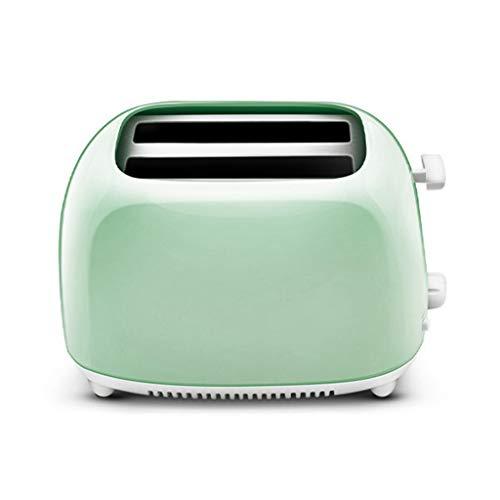 Xuebai Tostadora automática de Acero Inoxidable con 2 rebanadas, tostadora automática de Pan de Calentamiento rápido, Verde