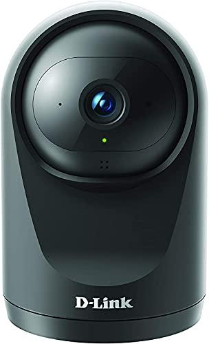 D-Link DCS-6500LH Cámara WiFi seguridad hogar, Full HD, Lente motorizada visión 360°, visión nocturna, gestión remota desde app mydlink, grabación en nube, WPA3, Alexa, negra