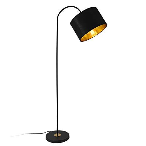 lux.pro Stehleuchte 173cm 1xE27 Stehlampe Standleuchte Metall Schwarz