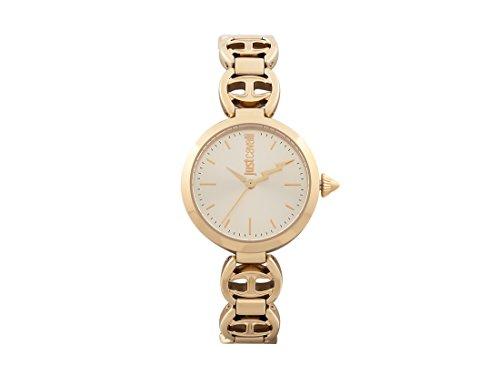 Just Cavalli Damen Analog-Digital Quarz Uhr mit Edelstahl Armband JC1L009M0075