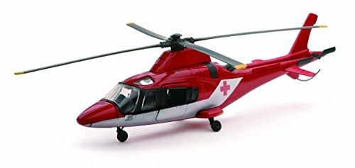 New Ray - 26103 A - Véhicule Miniature - Modèle À L'échelle - Hélicoptère Aw 109 Agusta - Rouge/Blanc - Echelle 1/43