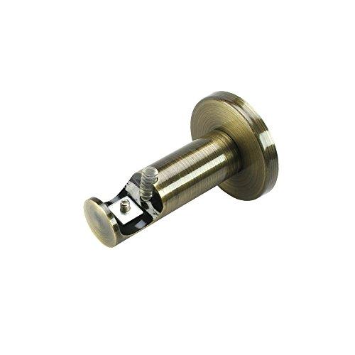Liedeco drager, binnenloopdrager 1-strekkende voor gordijnroedes Blues ø 20 mm | 1 stuk | messing-antiek