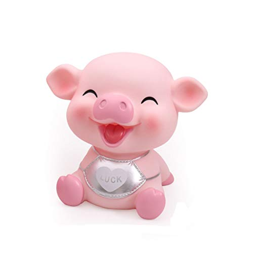 Aveo Hucha Hucha for niñas niños Cute Pig Money Box Piggy Bank Shaped Coin Bank Box Creative Pig Money Box Gift for niños alcancía (Color : Silver, tamaño : Large)