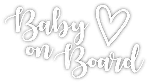 Baby On Board Vinyl-Aufkleber, 15,2 x 8,3 cm, Weiß