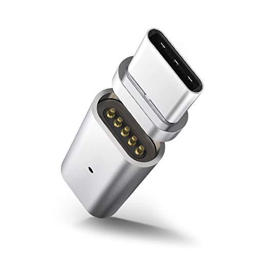 Niza Q10 2.4A de salida Micro USB hembra a USB-C/tipo C macho magnética de transmisión de datos al adaptador de carga, for la galaxia S8 y S8 + / G6 LG/Huawei P10 y P10 Plus/Xiaomi Mi 6 & Max 2