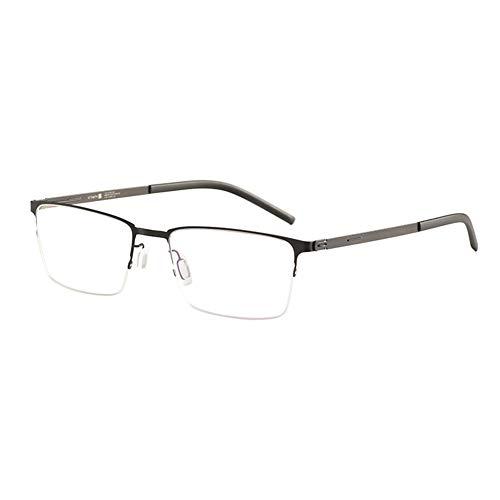 HQMGLASSES Gafas de Lectura ultraligeras sin Tornillos sin luz Azul para Hombres, monturas de Negocios rectangulares, Lentes de Resina de Alta definición dioptrías +1.0 a +3.0,Negro,+1.75