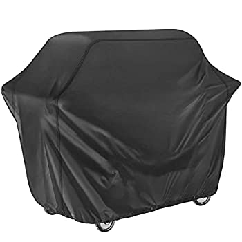 LONENESSL Grill Cover 58 Inch Waterproof BBQ Cover 420D Oxford Heavy Duty Gas Grill Cover,UV-Resistant,Fit for Weber Brinkmann Char Broil Grills and Outdoor,Patio,Yard,Garden…