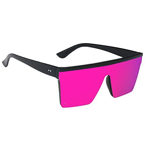 kowaku Gafas de Sol Cuadradas Retro Clásicas Gafas Unisex con Lentes de Color Púrpura Vintage