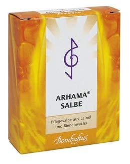 Arhama-Salbe ist eine natürliche kosmetische Pflegesalbe aus Leinöl und Bienenwachs.Spar-Set 2x20 ml