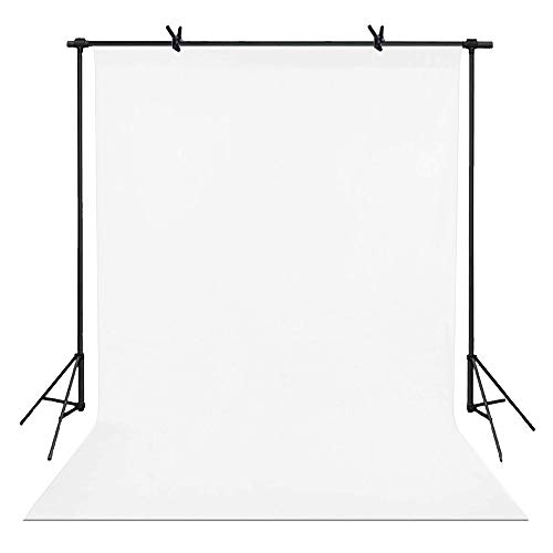 5x7ft Pure White Backdrop Curtain Polyester Fabric Photography Backdrops for Photoshoot Portable and Washable Photo Background Video Studio PropsBT040 (5x7ft, White)