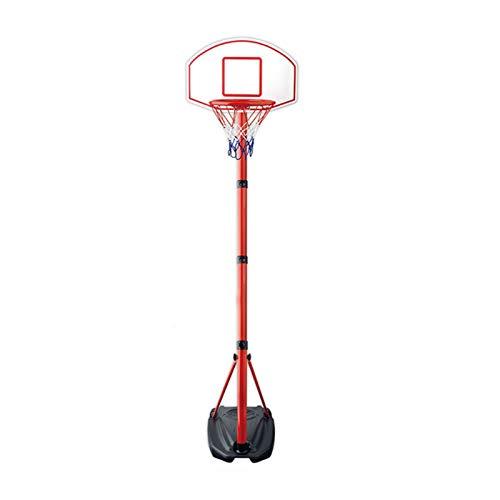 Canasta de baloncesto interior exterior deportes Los adolescentes móvil soporte de baloncesto cubierta - Altura Sistema de Baloncesto Niños ajustable con ruedas y estante de 27 pulgadas Tablero
