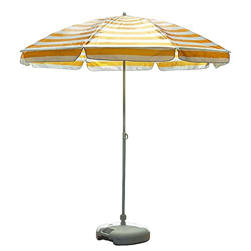 Paraguas de Jardín Sombrilla de Mesa Market Stripe, Sombrilla de Playa con 8 Costillas, Transporte Portátil y Liviano Parasol para Exteriores - Jardín/Campo de Fútbol/Campo de Golf ( Size : 2m/6.5ft )