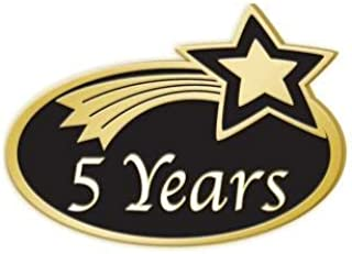 5 Years Achievement Pins - Years of Service Employee Pins 1 Pack Prime