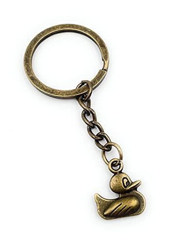 Onwomania - 'Canard colvert en Bronze Porte-clés - Porte-Bonheur en métal idéal comme Cadeau, par Exemple pour Le Meilleur ami, Le Meilleur ami, Maman - pour Hommes, Femmes et Enfants