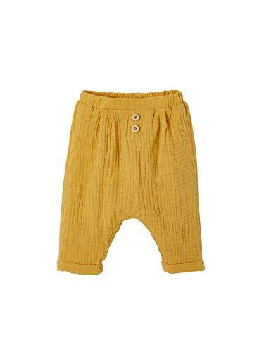 Vertbaudet Pantalon Coupe Sarouel en Gaze de Coton bébé garçon Moutarde 3M - 60CM