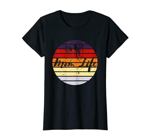 Mujer Mom-Life Día de la Madre Vintage atardecer diseño Mama Mommy Momma Camiseta