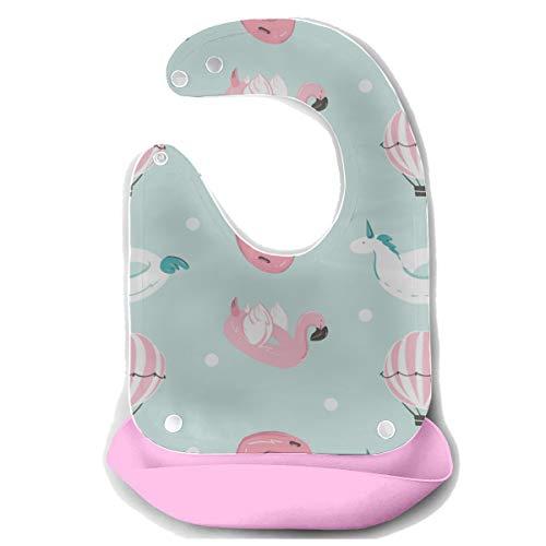 N\A Jungen Zahnen Lätzchen Luftballon niedlichen Ballon abnehmbare Silikon Fütterung Schürze Maus Handtuch Baby Fütterung Dribble Drool Lätzchen Säuglings Lätzchen für Babys