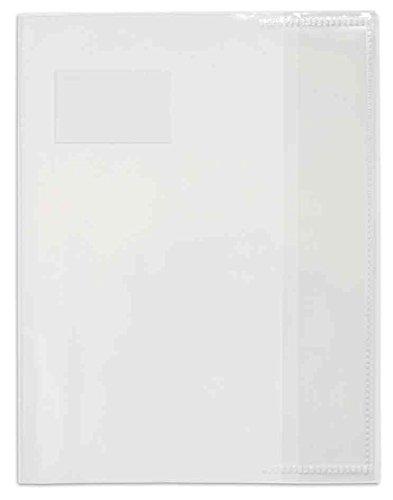 ELBA Lot de 25 Protège-cahiers PVC 12/100ème 17x22 Transparent incolore