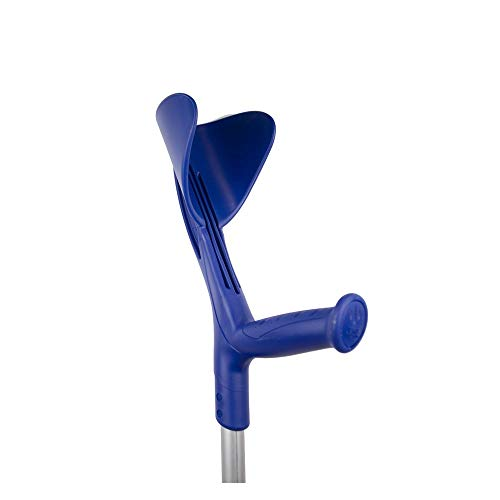 Kruk, Engelse wandelstok, zeer licht, gemaakt van Aluminium, in hoogte verstelbaar, blauw