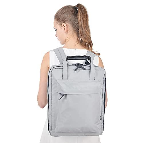aolongwl Mochilas escolares Mochila de equipaje de viaje de gran capacidad para hombres y mujeres, organizador de embalaje, bolso de lona impermeable