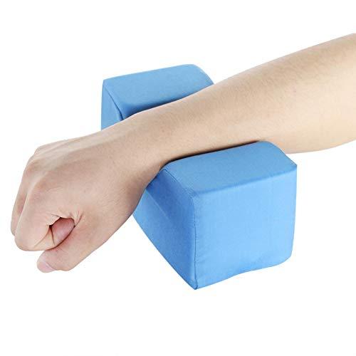 2 colores alivian el dolor Cojín de cuña de esponja de cuero de PU extraíble para muñecas(blue, 20 * 10 * 10cm)