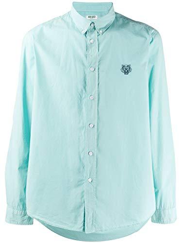 Luxury Fashion | Kenzo Heren FA55CH4001LA60 Groen Katoen Overhemden | Lente-zomer 20