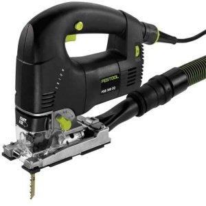Festool PS300 elektrische decoupeerzaag (beugelgreep) + 10 Festool messen L.75 mm voor hout en platen