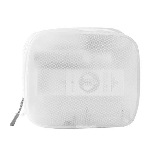 1 PC EVA Mesh Makeup Bag Portable Zipper Cosmetic Pocket Wash Bag (Square)