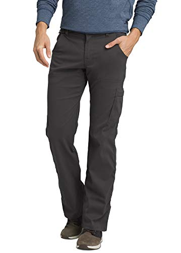 prAna - Men's Stretch Zion Lightweight, Durable, Water Repellent Pants for Hiking and Everyday Wear, 32' Inseam, Charcoal, 32