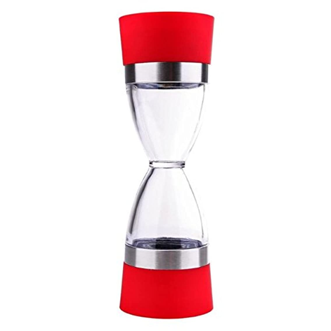 2 in 1 Hourglass Shape 18cm Manual Spice Grinder Dual Pepper Tools Shaker Kitchen Clean to Easy Salt for Pepper Mill Cooking