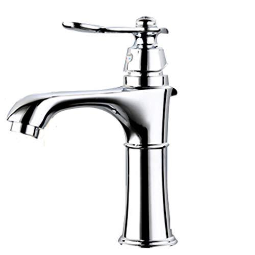 Waterkraan, handwas, waterkraan, koper, eengat, warm en koud, voor badkamer, wastafel, afmeting 32 mm tot 40 mm, kan worden geïnstalleerd (afmetingen: 18 cm x 23 cm x 31,5 cm) 18CM*19.5CM*19.5CM