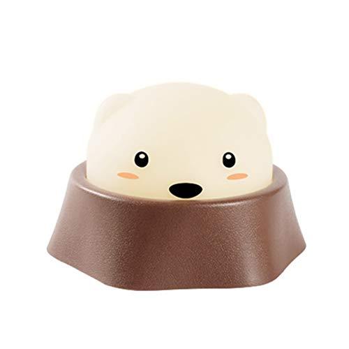 XiuHUa nachtlampje - spelen hamster nachtlampje USB oplaadschakelaar kinderen creatief lief nachtlampje baby voeding licht nachtlampje