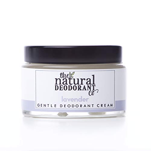 Gentle Deodorant Cream Lavender 55g by The Natural Deodorant Co. - Certified cruelty-free and vegan, plastic-free, ultra-effective 24hr deodorant balm