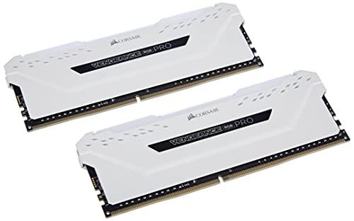 Corsair Vengeance RGB Pro 16GB (2x8GB) DDR4 3600 (PC4-28800) C18 Desktop Memory – White