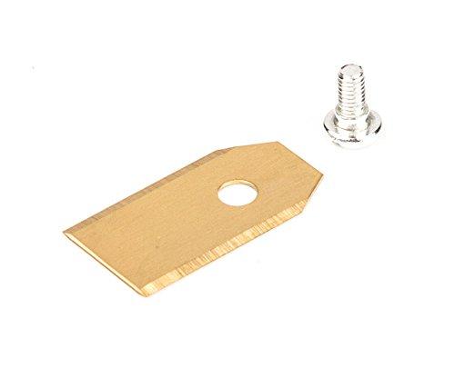 30 lame con rivestimento in titanio (0,75 mm, 3,1 g), bilaterali, per tosaerba automatico Husqvarna, Gardena R40Li, R70Li