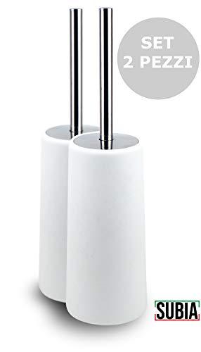 Scopino per WC in Silicone con Porta Spazzolone Scopino e Supporto per Toilette SUPTEMPO Spazzolino WC Bagno Spazzolone WC Silicone per Una Maggiore Pulizia e Asciugatura Rapida