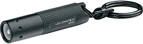 Led Lenser K1 - Linterna (Linterna de llavero, Negro, Aluminio, LED, 1...