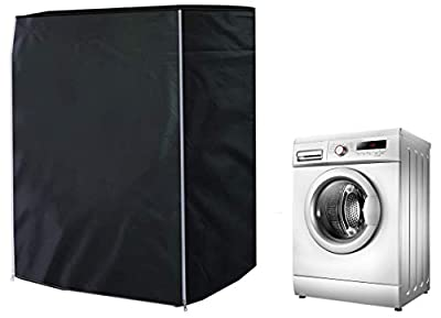 ELR Washing Machine Cover Sunscreen Dustproof Waterproof Washer Covers Front-Loading Washer/Dryer Cover Protection for Home Laundry (S: 60x50x85cm/23.4x19.5x33.1in)