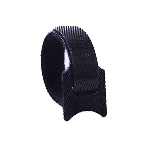 MARSPOWER Sujetadores de Cables Reutilizables de Nailon de 10 Piezas con Orificios de Ojales Sujetador de Bucle de Gancho de Nailon de Espalda con Espalda - Negro 12x150mm