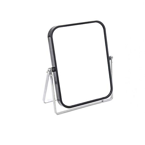 Miroir de maquillage LIHY- Zoom sur Le carré Double Face du Miroir de Couleur vive (Couleur : Noir)