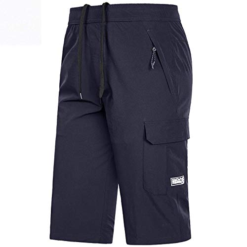 YAUTI Pantalon De Travail Shorts De Course D'Entraînement À Séchage Rapide pour Hommes De Grande Taille avec Poche À Glissière Short De Bain Respirant pour Hommes-B_4XL
