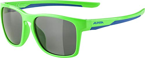 ALPINA Unisex - Kinder, FLEXXY COOL KIDS I Sportbrille, neon green-blue gloss, One Size