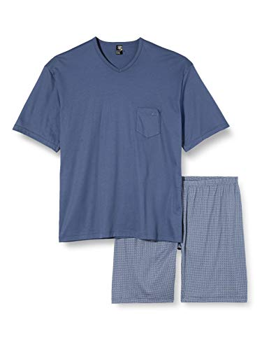 CALIDA Herren Relax Streamline 2 Zweiteiliger Schlafanzug, Blau (Vintage Indigo 457), Large (Herstellergröße:L)