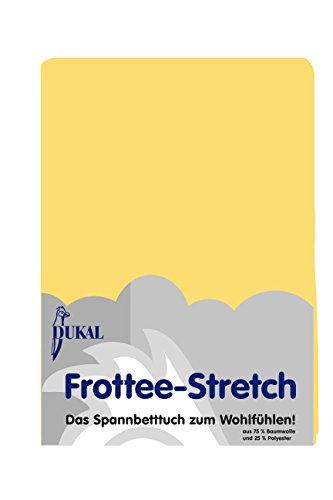 Dukal Frottee Spannbettlaken, 120 x 200-130 x 200, Farbe gelb