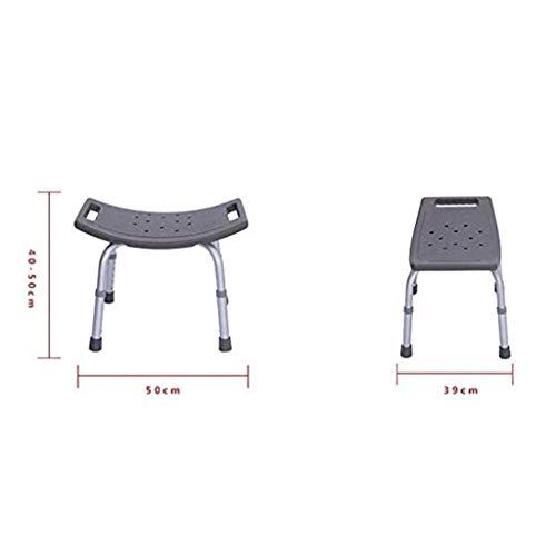 ROSSLBF Doccia Sedia con Schienale portatori di Handicap Gli Anziani Gli Anziani Vasca Sedia for disabili