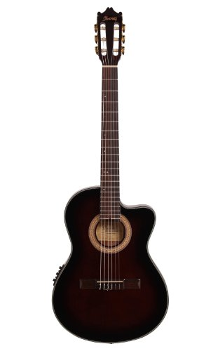 affodable Ibanez GA35TCED VS Acoustic / Electric Guitar-Dark Violin Burst