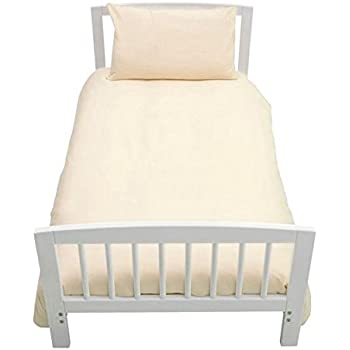 YELLOW COT BED DUVET COVER WITH PILLOWCASE SUPERIOR NATURAL COTTON RICH 120 X 150 CM