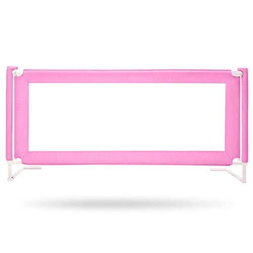 BGSFF Rieles de Cama para niños, protección de Seguridad para niños, bafle Resistente a los Golpes, Cama anticaída, Elevador silencioso Vertical Universal (Color: Pink-200CM)