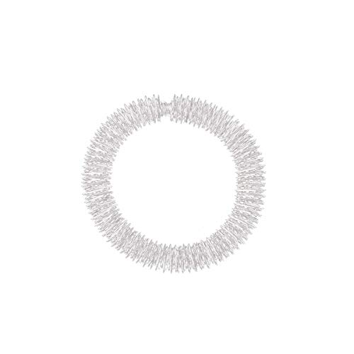 Artibetter Akupressur Armband Massagering Yin Yang Akupressurring Akupunkturringe Fingermassageringe Finger Massage Ring für Handgelenk Entspannung (Silber)