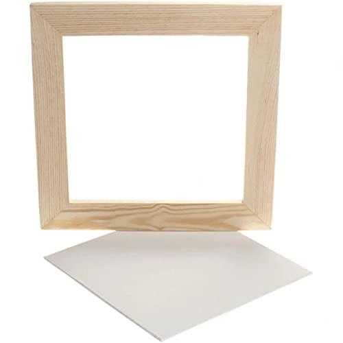 Creativ Company Canevas avec cadre, dim 25,8x25,8 cm, Canevas 20 x 20 cm, 1 pièce